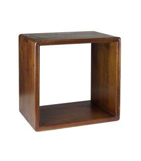 Comprar online Estante cuadrado en madera natural de mindi Colección NORDIC