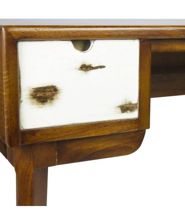 Escritorio de madera natural de Mindi Colección NORDIC