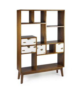Comprar online Estantería Librería en madera de Mindi Colección NORDIC