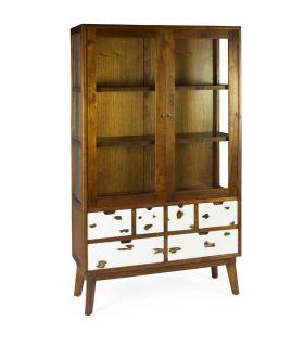 Comprar online Vitrina en madera natural Colección NORDIC