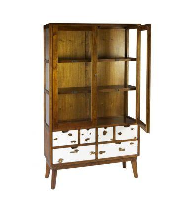 Vitrina en madera natural Colección NORDIC