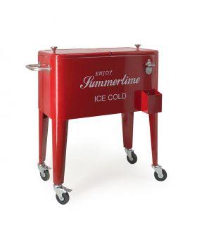 Comprar online Carrito Nevera de acero Modelo SALLY Roja