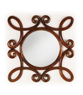 Comprar online Espejo Clásico en madera Natural HONEY