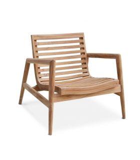 Comprar online Sillón pata terraza y jardín en madera de teka RINGO