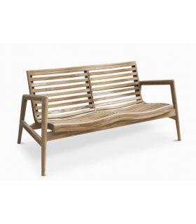 Comprar online Sofá 2 plazas pata terraza y jardín en madera de teka RINGO