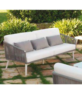 Comprar online Sofá de 3 plazas para terraza y jardín Colección SIENA