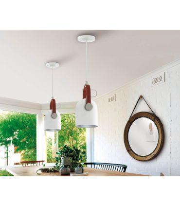 Lámpara Colgante colección Adame Blanco/Plata Schuller