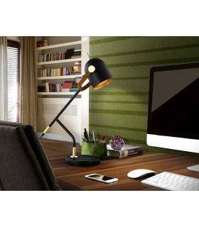 Comprar online Lámpara de Sobremesa colección Adame Negro/Oro Schuller