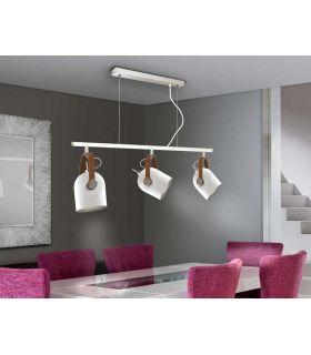 Comprar online Lámpara de Techo colección Adame Blanco/Plata. Schuller