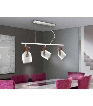 Lámpara de Techo colección Adame Blanco/Plata. Schuller