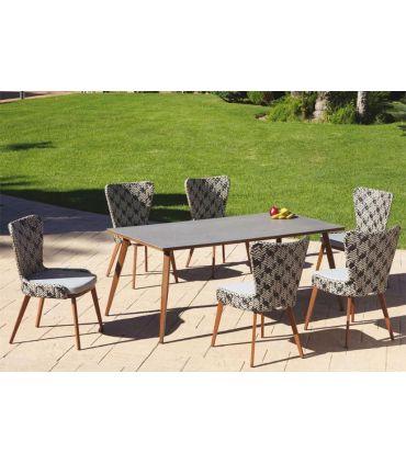 Mesa de Terraza y Jardín con tapa en Porcelánico Colección FLORENCIA