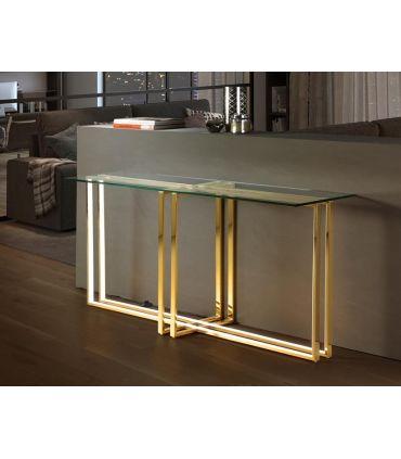 Consola de Acero Luz Led colección Aurea Oro