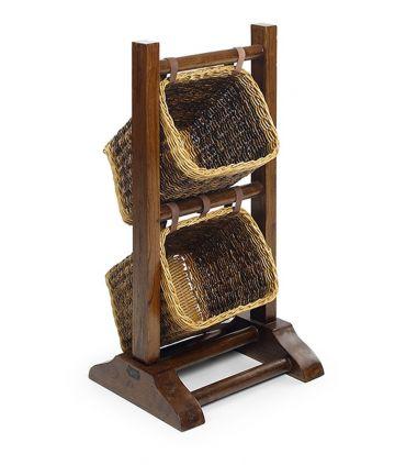 Muebles de Madera con Cestos de Rattan : Modelo COFÍN