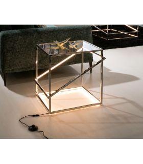 Comprar online Mesa Auxiliar de Acero con Luz Led colección Moonlight Cromo