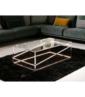 Comprar online Mesa de centro en acero con luz Led colección Moonlight Cromo