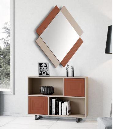 Mueble Auxiliar en Madera lacada modelo DEXTRO rectángulos