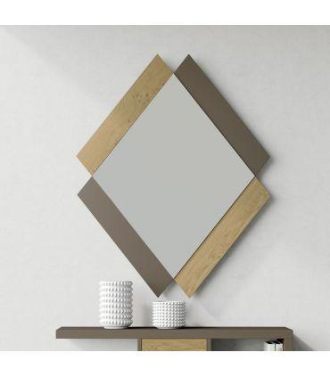 Espejo de Diseño en madera Modelo QUATRO rectángulos