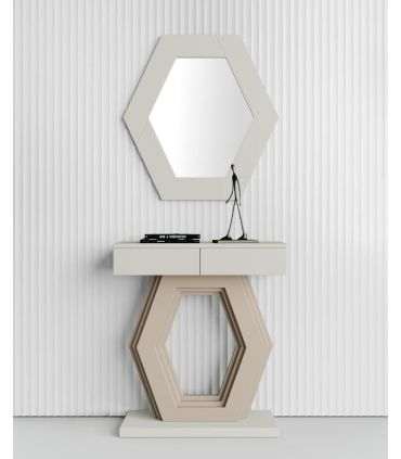 Consola decorativa en madera modelo HEXAGONO PQ