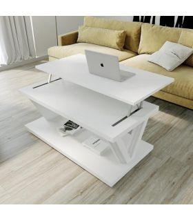 Comprar online Mesa de centro elevable en madera lacada TRIÁNGULO