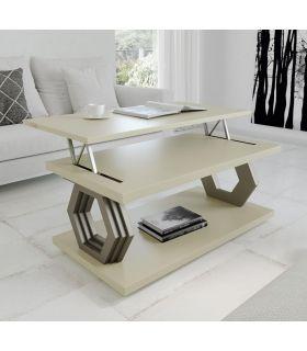 Comprar online Mesa de centro elevable en madera lacada HEXAGONO