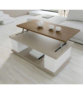 Comprar online Mesa de centro en madera lacada y tapa elevable VIPER