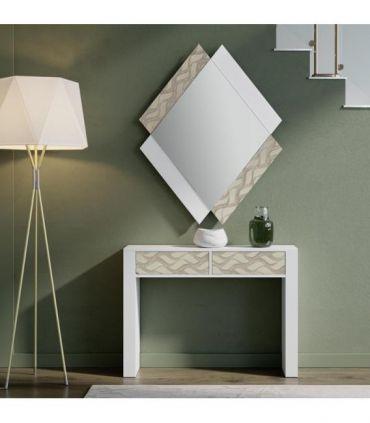 Espejo de Diseño en madera Modelo QUATRO ONDAS