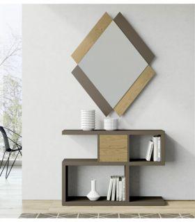 Comprar online Espejo de Diseño en madera Modelo QUATRO Liso