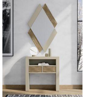 Comprar online Espejo Pequeño de Diseño en madera Modelo QUATRO RIO