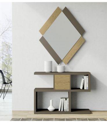 Espejo Pequeño de Diseño en madera Modelo QUATRO RIO