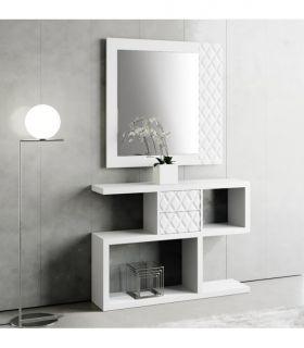 Espejo decorativo de madera modelo PRISMA Rombos