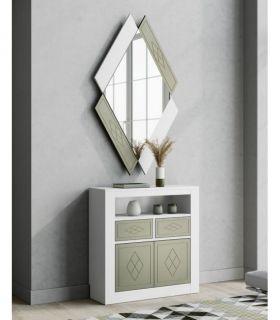 Comprar online Espejo Pequeño de Diseño en madera Modelo QUATRO Rombos