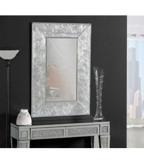 Comprar online Espejo de pared con marco en pan de plata AURORA