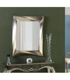 Comprar online Espejo decorativo con marco plata envejecido CALIXTA Pq