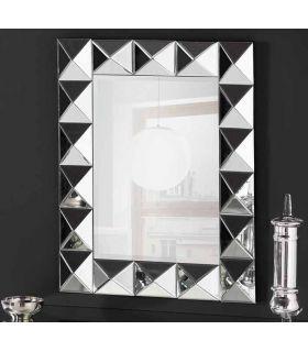Comprar online Espejo de pared con marco lunas de cristal Piramides