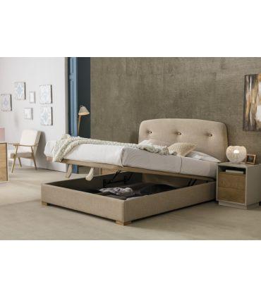Cama Tapizada con canapé abatible Modelo BERGEN