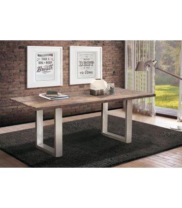 Mesa de comedor estilo Industrial colección FERROCARRIL