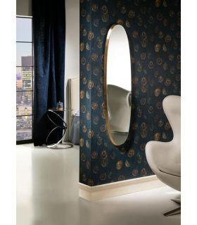 Comprar online Espejo Ovalado marco Pan de Oro colección Aries Schuller