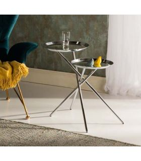 Comprar online Mesa Auxiliar de Metal Cromado modelo DUETO Schuller
