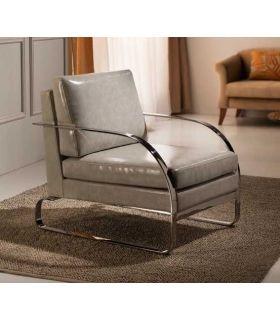 Comprar online Sillón de Acero con tapizado Gris modelo SAORI Schuller