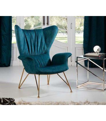 Sillón tapizado de diseño modelo SACHA Schuller