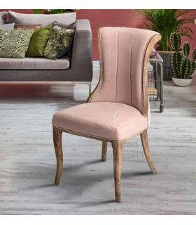 Comprar online Silla de madera con tapizado modelo Elina Rosa Schuller