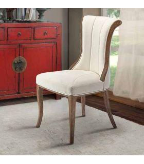 Comprar online Silla de madera con Tapizado modelo Elina Blanca Schuller