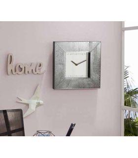 Comprar online Reloj de pared cuadrado colección AURORA Plata Schuller