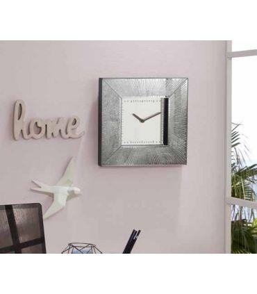Reloj de pared cuadrado colección AURORA Plata Schuller