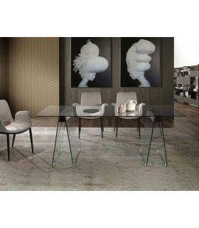 Comprar online Mesa de Cristal para comedor colección MIRNA GR Schuller
