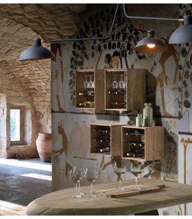 Comprar online Botelleros en caja de madera modelo HOME
