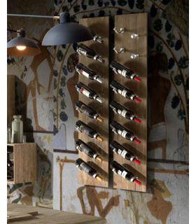 Comprar online Botellero de pared en madera y metal modelo HOME