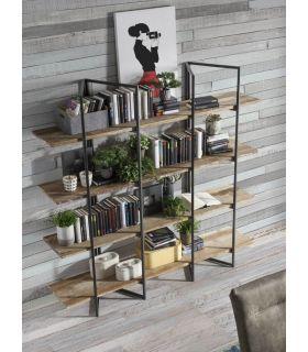 Comprar online Estantería Industrial de doble pie en madera de teka Colección TAUREG