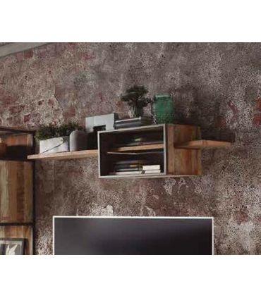 Estante suspendido en madera y metal Colección TUAREG
