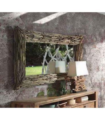 Espejo con marco de ramas de madera modelo AVALON
